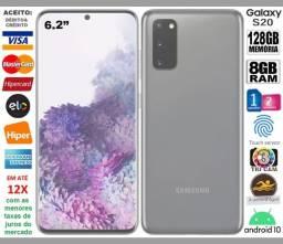 """Galaxy S20 128GB OctaCore, 8GB Ram, Tela 6.2"""", TriCâm 64MP, Novíss, Caixa, NF, Gar, Troco"""