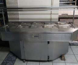 Buffet Térmico Jabur 10 cubas inox