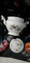 Sopeira compoteira porcelana antiga Schmidt