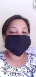 Máscara preta camada dupla 1,00