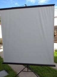 Telão pra projetor profissional 1,80 x 1,80
