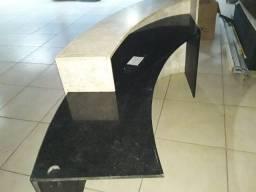 Balcão Luxo de Mármore e Granito