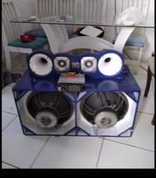 Devede Pionner e caixa de som