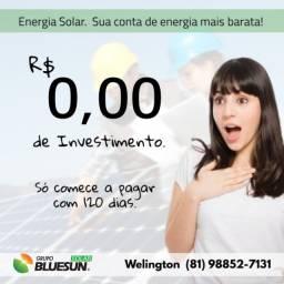 Energia solar com 30 anos de garantia e 120 dias pra começar a pagar