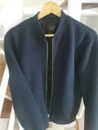 Jaqueta Azul da Zara com Interior Espumado