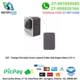 327 - Tampa Entrada Cover Lateral Cabo Usb Gopro Hero 3 3+ 4<br><br>