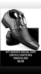 Kit Sapato Social Masculino