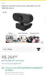 Webcam HD 1080P com microfone - (Nova)