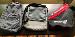Lote com 1 mochila e 2 bolsas