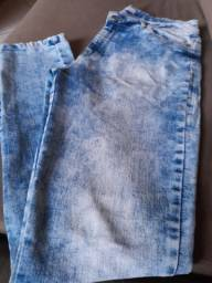 Calca jeans,48, marfino, com laycra,masculina