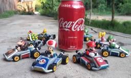 Kit 8 Carrinhos Mario Kart