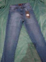 Vendo calça jeans nova com zíper atrás