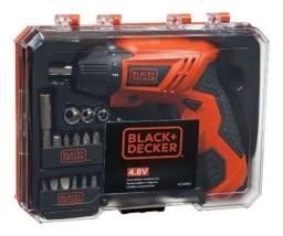 Parafusadeira Bateria 4,8v Kit 16 Pçs Kc4815k Black+decker