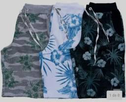 Kit Com 3 Bermudas Shorts Moletom Masculinas Premium - Equilibrium<br><br>