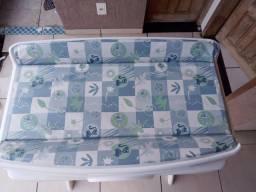 Banheira Bebê Suporte Splash - Peixinho Azul