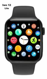 Relógio Inteligente Iwo12 Lite Com2 Pulseiras Nylon Silicone