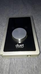 Placa de audio Duet Apogee profissional 192 KHZ.