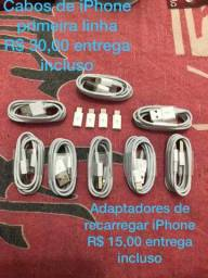 Cabos de iPhone e adaptadores