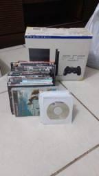 Playstation 2 Slim Desbloqueado (com defeito) + 31 jogos