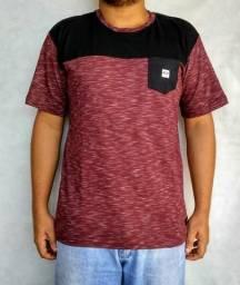 Camiseta Oakley vermelha/preta