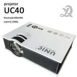 Mini Projetor Led Uc40 Hdmi Até 130 Polegadas Usb Top 1080p Dividimos, entregamos
