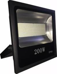 Refletor Led 200w Holofote Branco Frio Bivolt a prova D'água