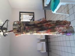 Vestido Ligia Nogueira estampado - Tam. 42
