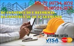 Construção em geral, Pedreiro, Serralheria, Pintura, Grafiato, Gesso, Drywall