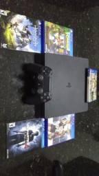 PlayStation 4 ( Ps4 ) Slim com 8 jogos + PlayStation Plus ( Psn )
