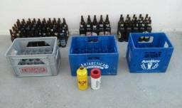 Vasilhames, engradados e porta cerveja