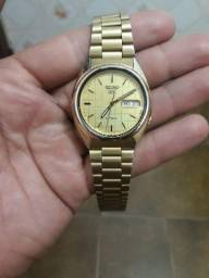 Relógio seiko 5 automatico dourado