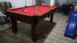 Mesa Tentação e Jantar | Mesa Imbuia | Tecido Bordô | Modelo: FIUE3450