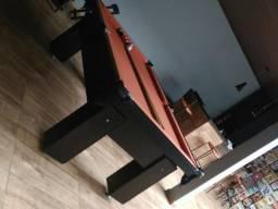 Mesa de Bilhar e Sinuca Preta Tx 4 Pés Modelo HK5689