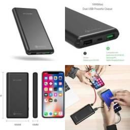 Bateria Portátil PowerBank BlitzWolf® BW-P6 10000mAh USB Duplo Carga Rápida 18W QC3.0