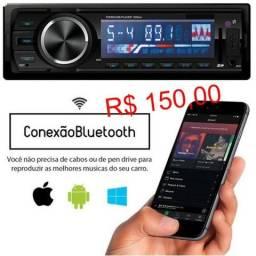 Promoção Valor instalado radio USB, Bluetooth cartão de memoria sd controle remoto