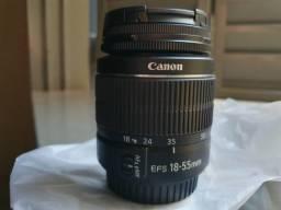 Lente Canon 18 55mm com filtro UV Hoya