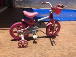 Bicicleta infantil cor de rosa
