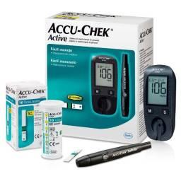 Medidor Monitor De Glicemia Glicose Accu-chek Active