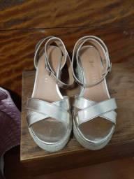 Sandália Dourada casual