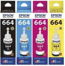 Kit Tintas Originais Epson 664 Para impressora L355 L365 L375 L395 L495