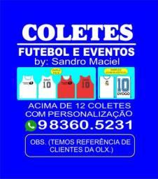 Coletes para futebol e eventos personalizados