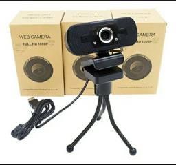 Webcam Full Hd 1080p Conferência De Video Microfone Pc