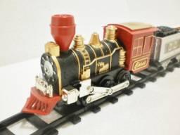 Ferrorama Trem À Pilha Locomotiva Expresso Som E Luz