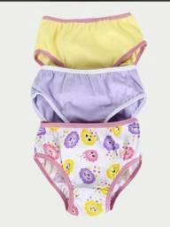 10 calcinha infantil, cores sortidas
