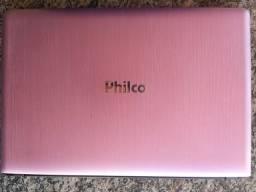 Notebook Philco Rosa, usado.