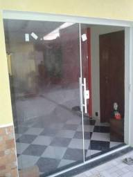 Temos p pronta entrega porta em vidro incolor 8mm