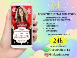 Convite Virtual com foto