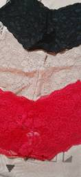 Caleçon de renda vermelho bege preto branco
