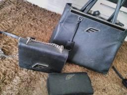 2 bolsas+carteira originais da Ellus