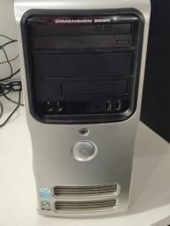 Computador Desktop PC Core 2 Quad Q6600 4GB 160GB Dimesion E520 Windows 7 instalado